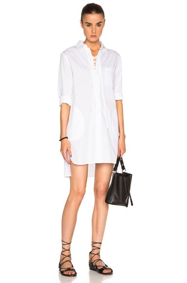 Lace Up Shirt Dress