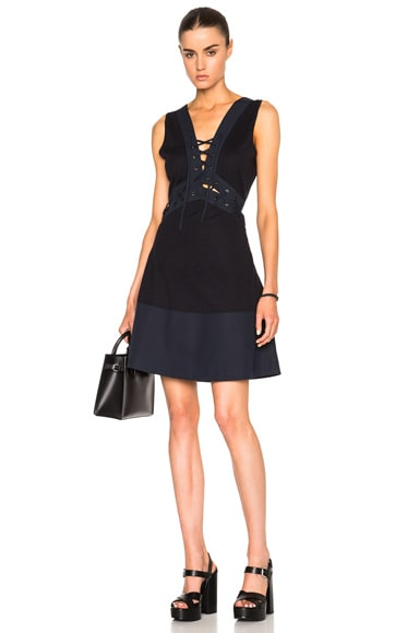Thakoon Lace Front Dress in Navy