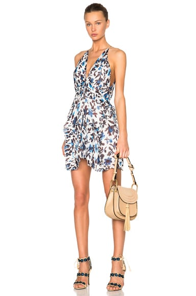 Thakoon Mini Halter Dress in Blue & White