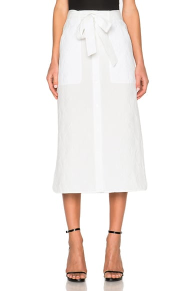 Thakoon Long Skirt in White
