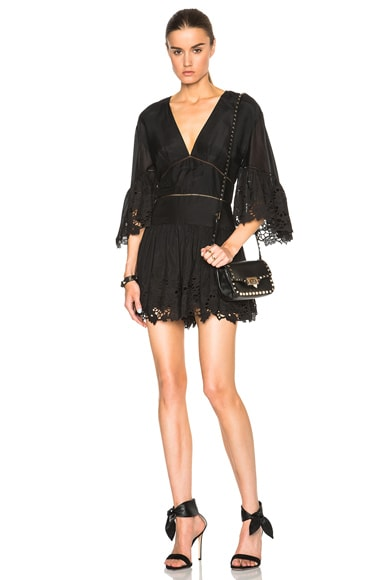 Thakoon Draped Romper in Black