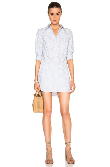Thakoon Button Front Romper in Blue