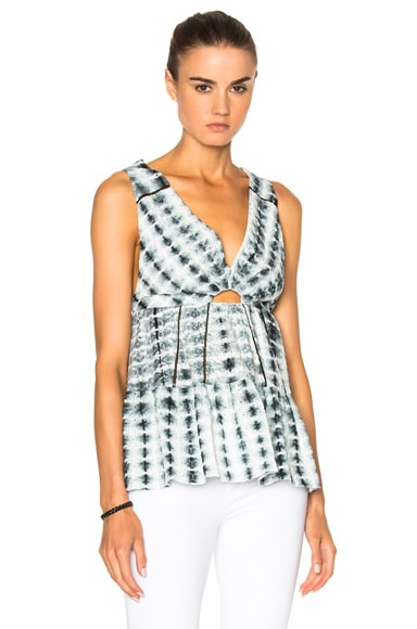 Thakoon Peasant Top in Black & White