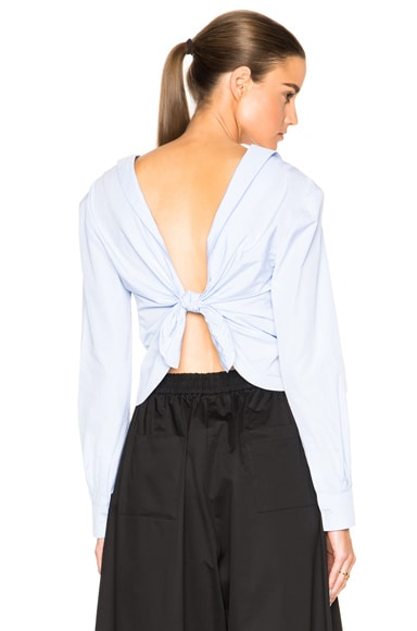 Thakoon Twist Back Top in Blue