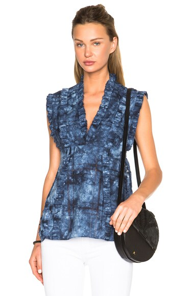 Thakoon Ruffle Top in Indigo