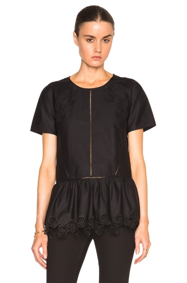 Thakoon Peplum Top in Black