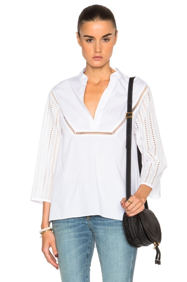 Thakoon Caftan Top in White