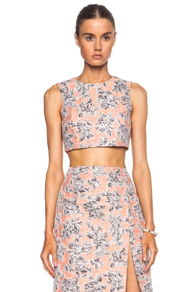 Thakoon Cropped Shell Top in Peach