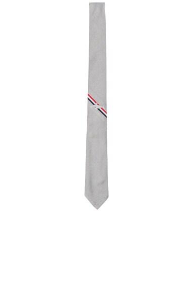 Thom Browne Shark Tie in Medium Grey
