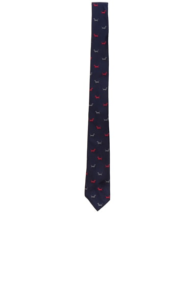 Thom Browne Classic Hector Tie in Navy