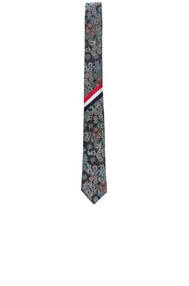 Thom Browne Wildflower Jacquard Tie in Black