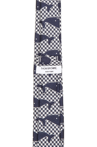 Whale Houndstooth Tie