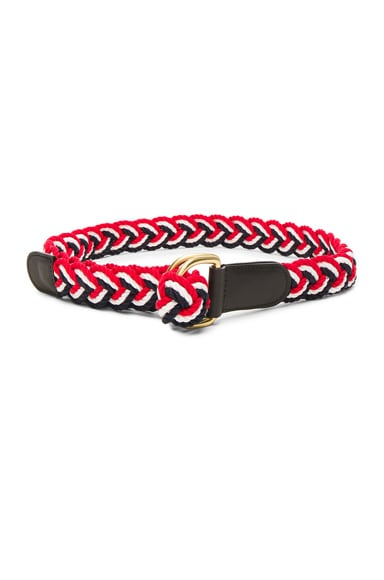 Nantucket Braided Rope D Ring Belt