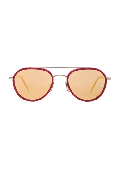 Thom Browne Sunglasses in Gold & Red