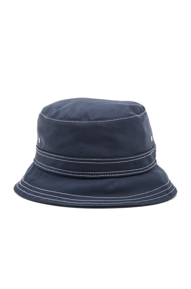 Thom Browne Lined Bucket Hat in Navy