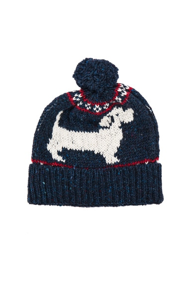 Thom Browne Hector Browne Fair Isle Hat in Red, White & Blue