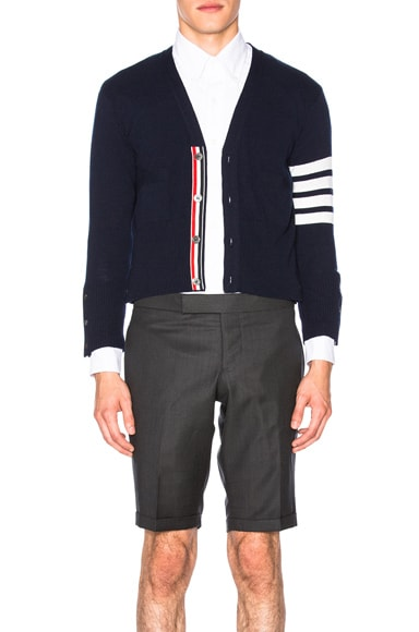 Thom Browne Classic Cashmere Cardigan in Navy