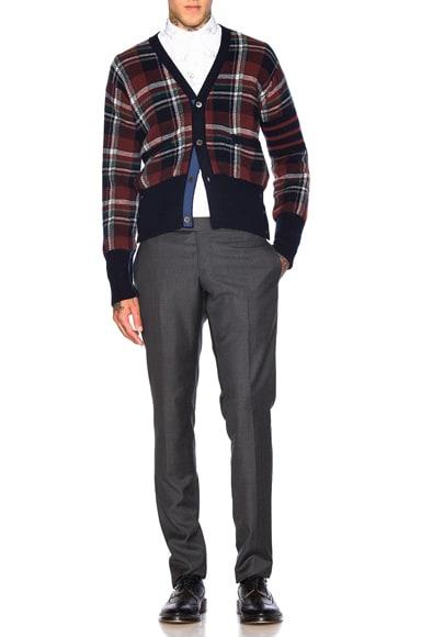 Tartan Plaid Wool Cardigan