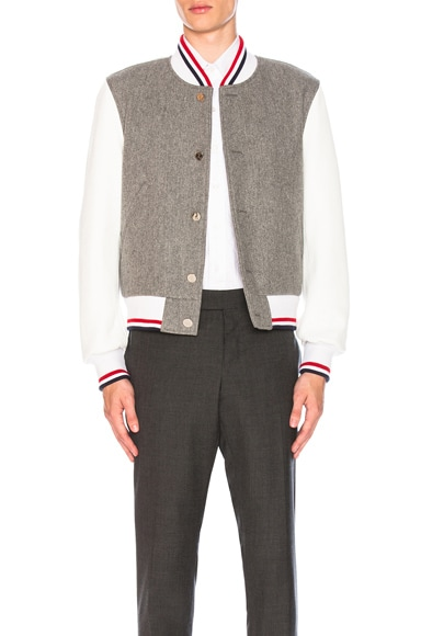 Button Front Varsity Jacket