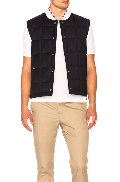 Down Filled Button Front Vest