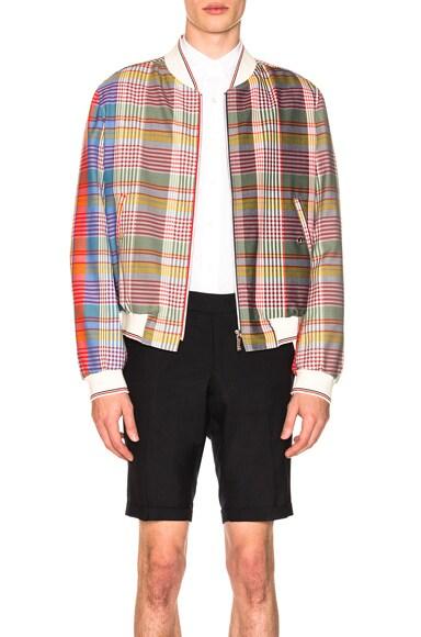 Madras Check Wool Jacket