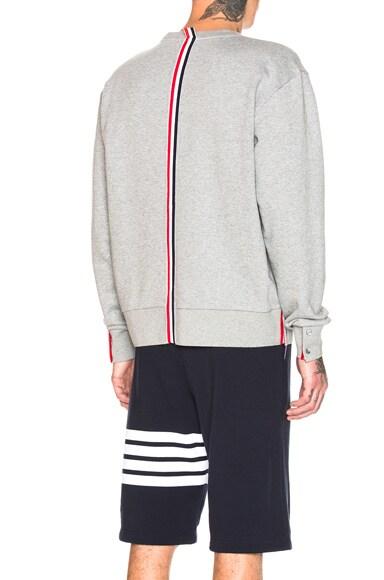 Back Stripe Crewneck Pullover