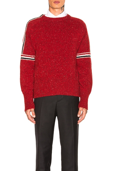 Mohair Tweed Classic Crewneck Pullover