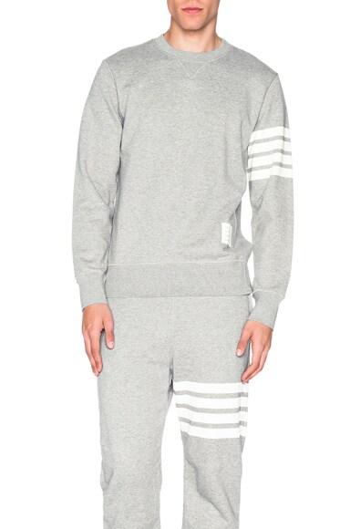 Thom Browne Classic Sweatshirt in Light Heather Grey