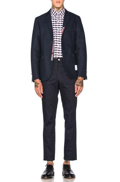 Double Woven Twill Classic Blazer