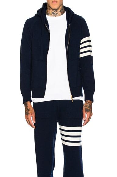 Cashmere 4 Bar Stripe Hoodie