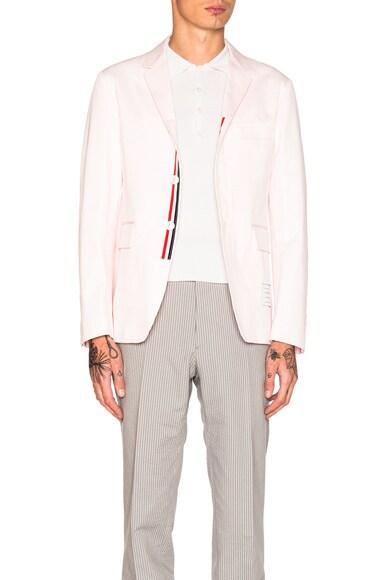 Thom Browne Lightweight Twill Blazer in Light Pink