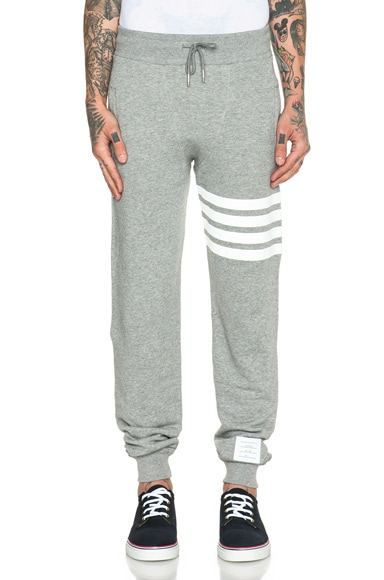 Thom Browne Boxer Cotton Sweatpants in Grey