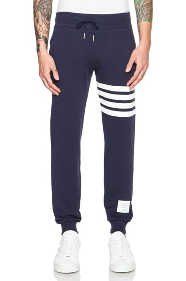 Thom Browne Cotton Sweatpants in Navy
