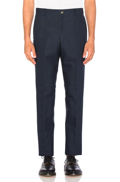 Thom Browne Unconstructed Chino Pants in Navy