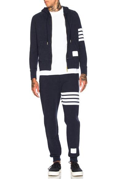 Distressed 4 Bar Stripe Sweatpants