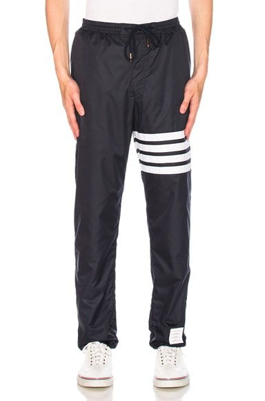 Ripstop Zip Up Pants with Cotton Eyelet Mesh