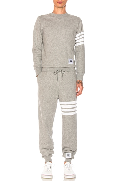 Thom Browne Trompe L'Oeil Sweatsuit in Light Gray