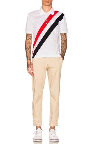 Diagonal Stripes Polo