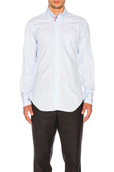 Classic Poplin Button Down with Ribbon Placket
