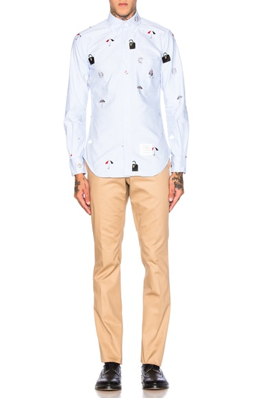 Icon Embroidery Oxford Shirt