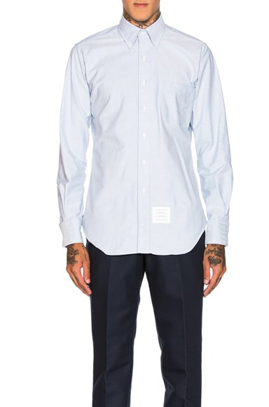 Thom Browne Classic Oxford Shirt in Light Blue