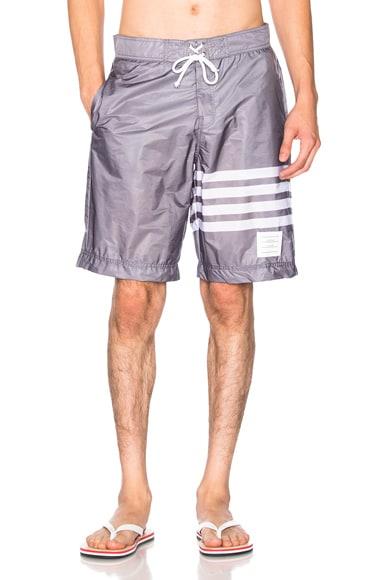 Thom Browne Board Shorts in Medium Grey