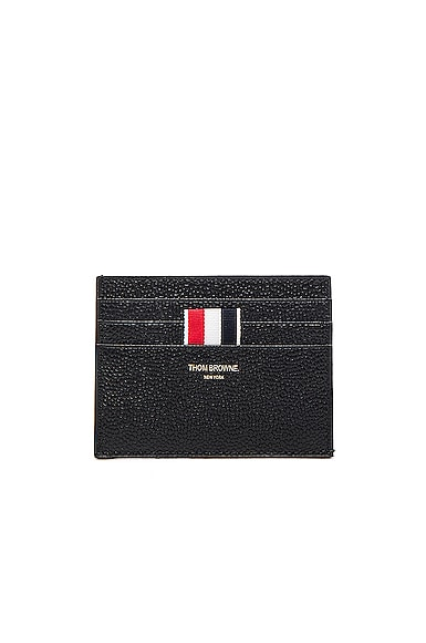 Thom Browne Pebble Grain Cardholder in Black