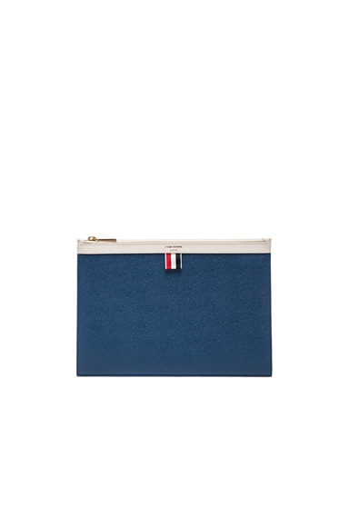 Thom Browne Funmix Small Zipper Tablet Holder in Red, White & Blue