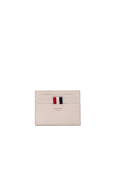 Thom Browne Pebble Grain Cardholder in White