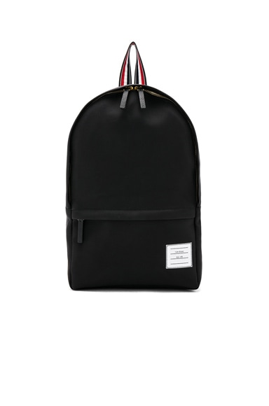 Nylon Tech Backpack with Intarsia Stripe
