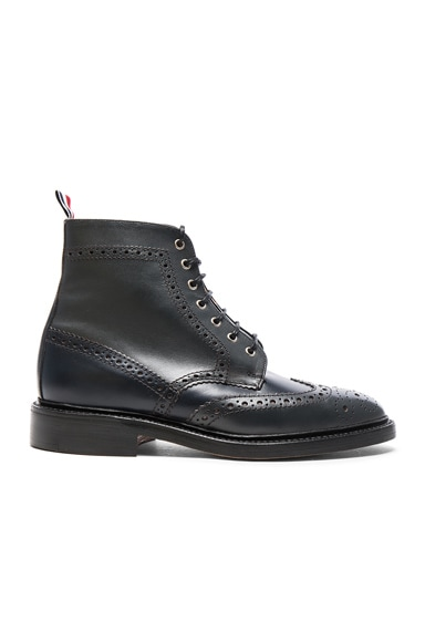 Classic Leather Wingtip Boots