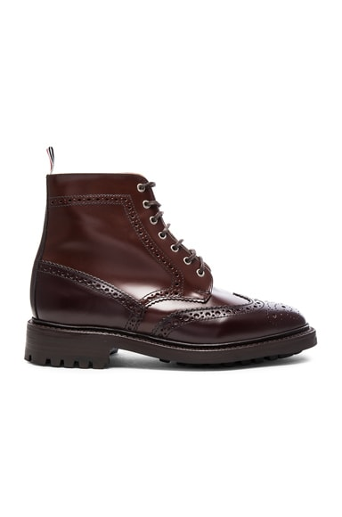 Leather Classic Wingtip Boots