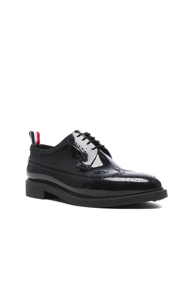 Thom Browne Rubber Brogues in Black