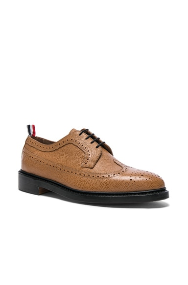 Thom Browne Classic Longwing Brogues in Medium Brown